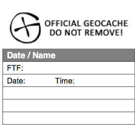 photograph about Official Geocache Printable named Absolutely free Geocaching Log Sheets and Printables - PodCacher