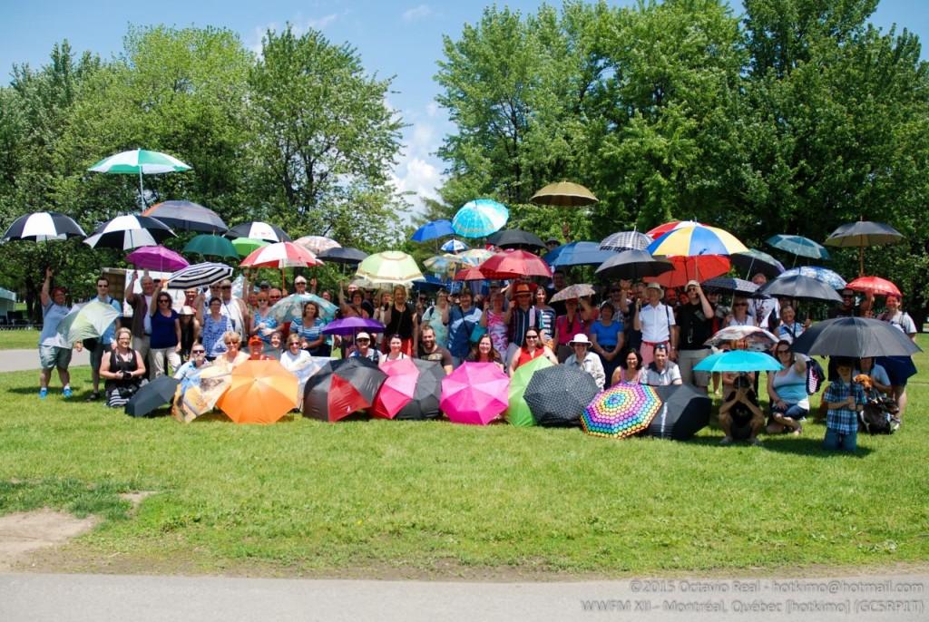 wwfm Umbrellas geocaching flash mob